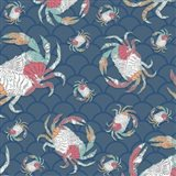 Sea Side BoHo Pattern - Crabs