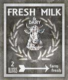 Farm Sign Fresh Milk 1