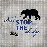 Blue Bear Lodge Sign 2