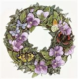Violas And Butterflies