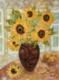 Sunflowers And Satsumas