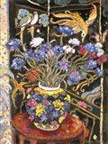Cornflowers And Bird Screen
