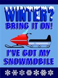 Winter Bring It Snowmobile