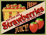 Strawberries Crate Label