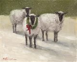 Lambs with Wreath