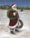 Santa with Two Wreaths