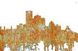 Montreal Que Skyline - Rust