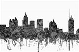 Atlanta Georgia Skyline - Cartoon B&W