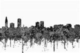 Baton Rouge Louisiana Skyline - Cartoon B&W