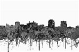 Colorado Springs Colorado Skyline - Cartoon B&W