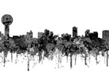 Knoxville Tennessee Skyline - Cartoon B&W