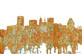 Baltimore Maryland Skyline - Rust