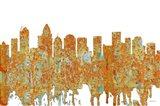 Charlotte NC Skyline - Rust