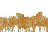 Chatanooga Tennessee Skyline - Rust