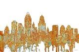 Cincinnati Ohio Skyline - Rust