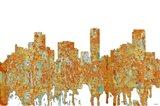 Denver Colorado Skyline - Rust
