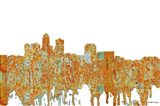 Des Moines Iowa Skyline - Rust