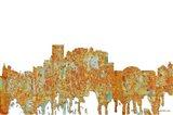 El Paso Texas Skyline - Rust