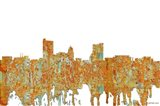 Fort Wayne Indiana Skyline - Rust