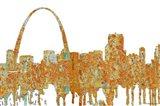 Gateway Arch St Louis Missouri Skyline - Rust