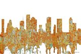 Houston Texas Skyline  - Rust