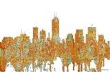 Indiana Indianapolis Skyline - Rust