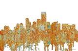 Jersey City New Jersey Skyline - Rust