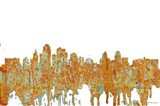 Kansas City Missouri Skyline- Rust