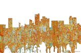 Lubbock Texas Skyline - Rust
