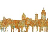 Mobile Alabama Skyline - Rust