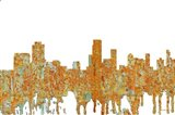 Newark New Jersey Skyline - Rust