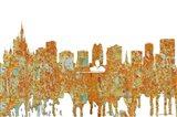 Orlando Florida Skyline - Rust