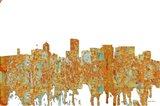 Portland Oregon Skyline - Rust