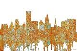Providence Rhode Island Skyline - Rust