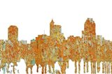 Raleigh North Carolina Skyline - Rust