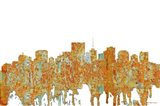 Richmond Virginia Skyline - Rust