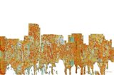 Rosslyn Virginia Skyline - Rust