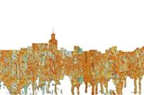 Santa Fe New Mexico Skyline - Rust