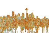 Seattle Washington Skyline - Rust