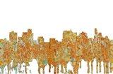 Springfield Illinois Skyline - Rust