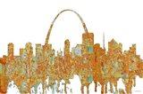 St Louis Missouri Skyline - Rust