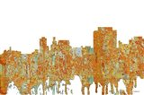 Trenton New Jersey Skyline - Rust