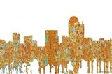 Winston-Salem North Carolina Skyline - Rust