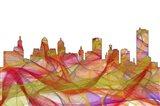 Buffalo New York SkylineSummer Swirl