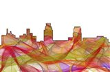 Camden New Jersey Skyline-Summer Swirl