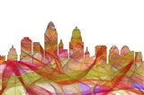 Cincinnati Ohio Skyline - Summer Swirl