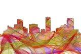 Denver Colorado Skyline - Summer Swirl