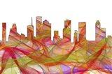 Houston Texas Skyline - Summer Swirl