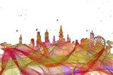 New Orleans Louisiana Skyline-  Summer Swirl