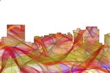 Newport News Virginia Skyline - Summer Swirl